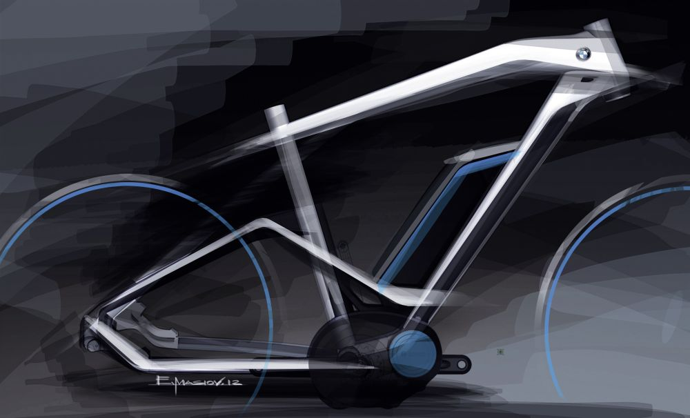 Design-Sketch des BMW Cruise E-Bike 2014