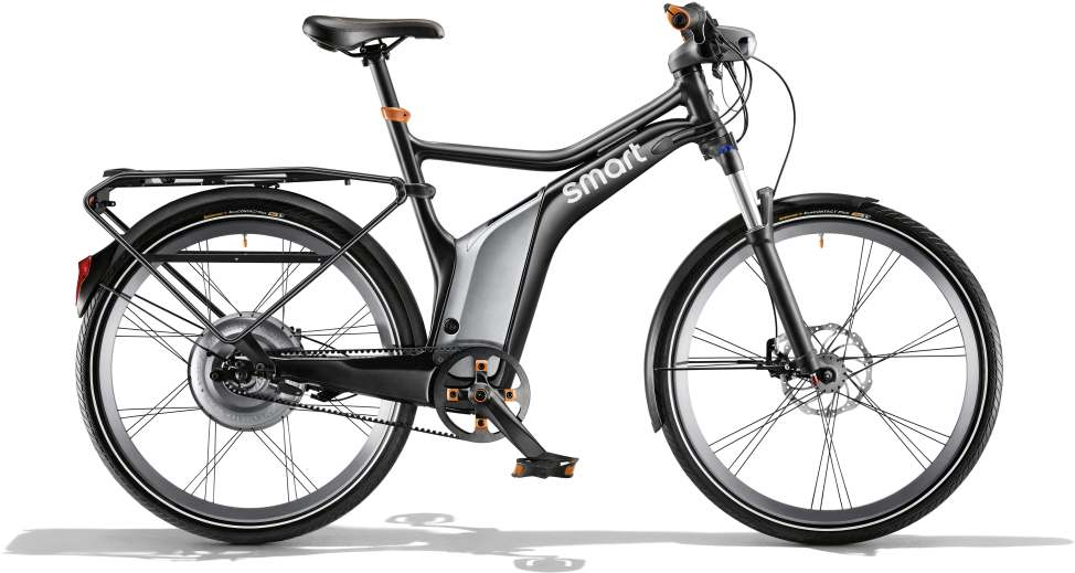 smart ebike black edition in schwarz matt/ flame orange; Bild: Daimler AG