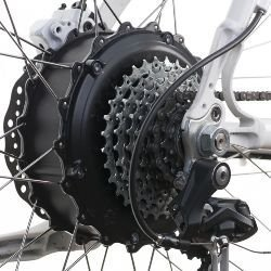 Rear wheel-mounted direct-drive hub motor
