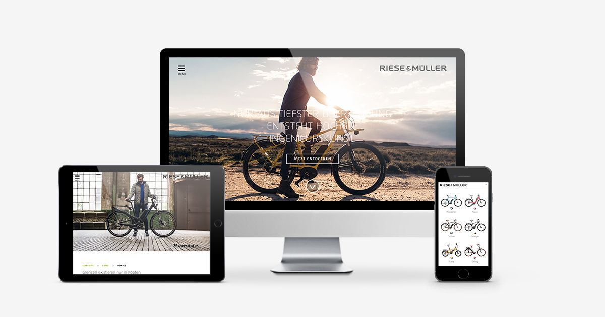 Riese & Müller Website Relaunch 2016