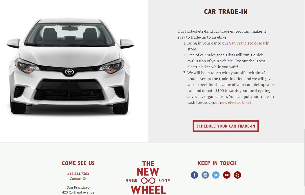The New Wheel Car Trade-in
